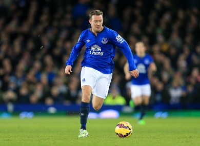 Aiden McGeady has yet to play in the Premier League for Everton this season.