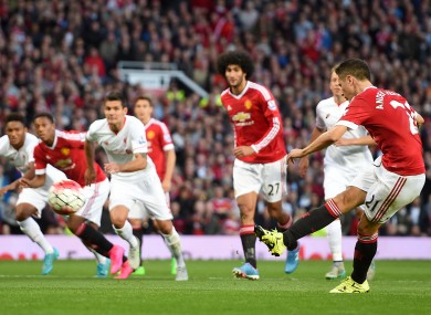 Ander Herrera scored when United and Liverpool met at Old Trafford in September.
