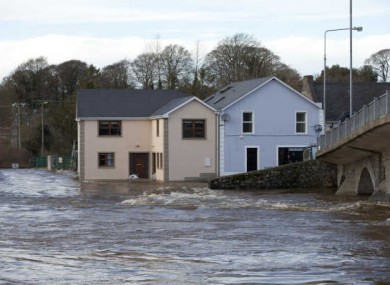 The effects of Storm Frank in Thomastown, Co Kilkenny