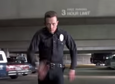 Robert Patrick as the T1000 in Terminator 2