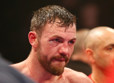 Andy Lee following his loss to Billy Joe Saunders.