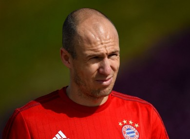 Bayern Munich forward Arjen Robben
