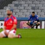 Goalkeeper Declan Molloy of Abbeyknockmoy dejected.<span class=