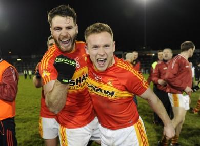 Mayo magic: Ger McDonagh and Stephen Keane celebrate.