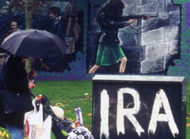File photo of IRA mural in Belfast