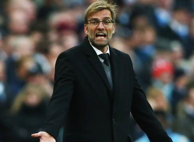 Liverpool manager Jurgen Klopp: