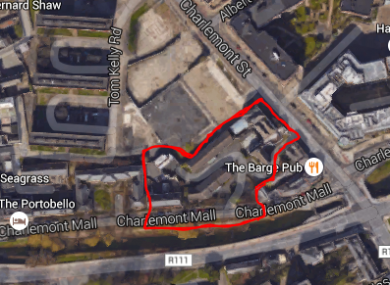The approximate site of the planned new hotel.