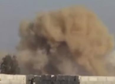 Russian air attacks are increasing around Damascus.