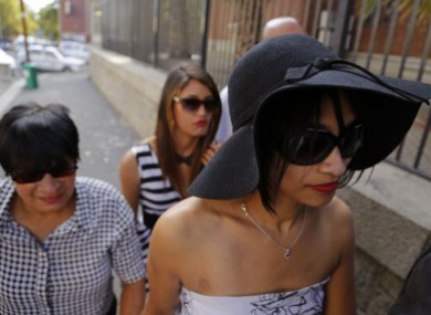 Celeste Nurse, right, the biological mother of the kidnapped girl, arrives at court last March.