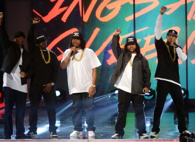 The members of N.W.A performing earlier this year as part of a tribute to the group.