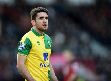 Brady hobbled out of Norwich's with Swansea earlier.