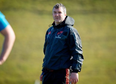 Munster head coach Anthony Foley.