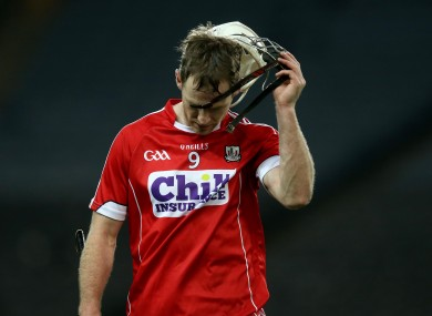 A dejected Brian Lawton after Cork's defeat to Dublin.