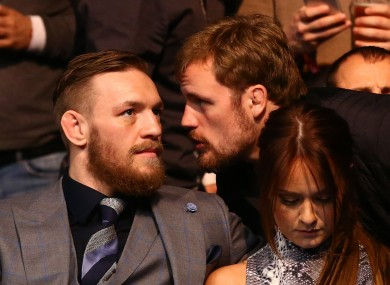 Conor McGregor and Gunnar Nelson among the spectators at last October's UFC Dublin card at the 3Arena.