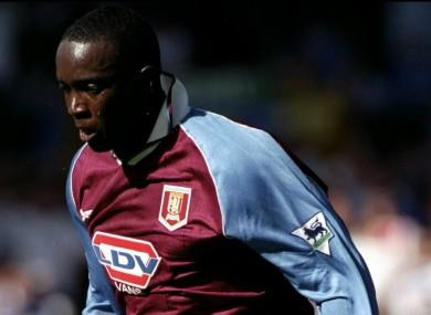Former Aston Villa striker Dwight Yorke.