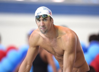 Gearing up for Rio: Michael Phelps.