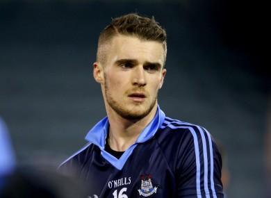 Dublin sub goalkeeper Mikey Quinn.