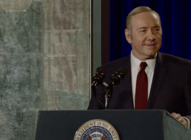 Frank Underwood at The Smithsonian in the series 4 of House of Cards.