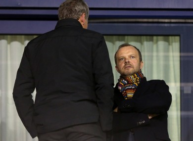 Ed Woodward (right) is one of the five who met yesterday.