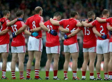 The Cork team that lined out against the Kingdom in last year's Munster final replay.