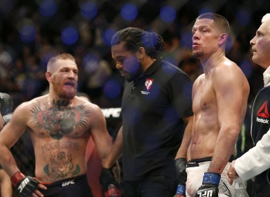 Conor McGregor after his defeat to Nate Diaz.
