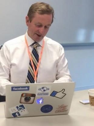 Enda Kenny has a go at the Facebook