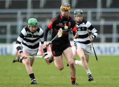 Brian Ryan in possession for Ardscoil Rís in the recent Croke Cup final.