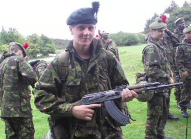 Molloy was a British Army soldier before joining the fight against Isis.