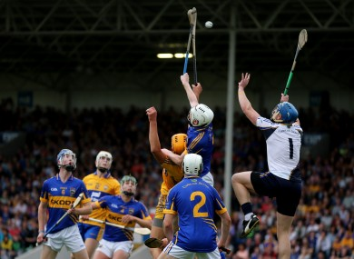 Darragh Mooney in action for the Tipperary U21s against Clare in 2013.