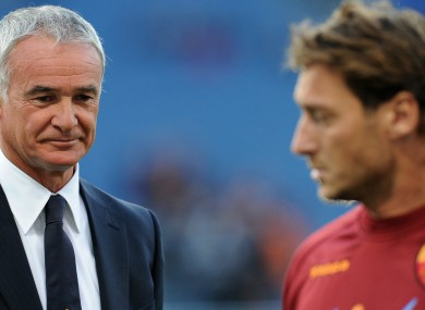 Ranieri is unlikely to be signing Totti this summer.