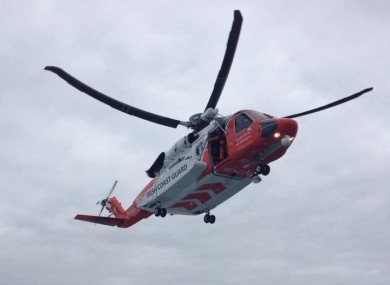 File photo of a coast guard helicopter.