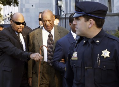 Bill Cosby arrives for a court appearance in February.