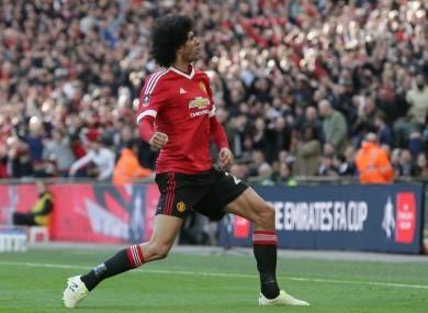 Manchester United midfielder Marouane Fellaini.