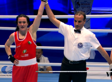 Kellie Harrington: faces Wenlu Yang in the 64kg final on Friday.