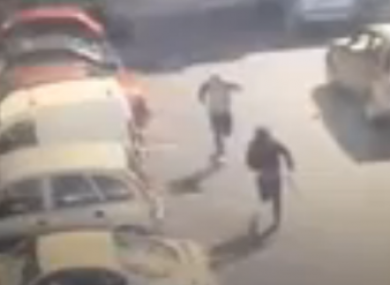 A screengrab from leaked CCTV footage of the murder.