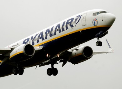A file photograph of a Ryanair flight