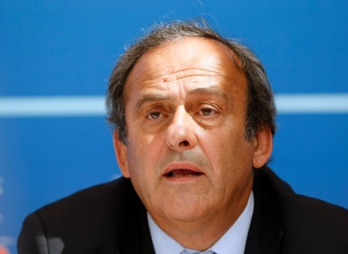 Platini has been banned from football for four yeas.