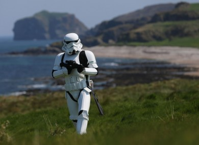 JJ McGettigan from the Emeral Garrison of Star Wars re-enactors pictured in Malin Head