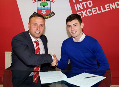 O'Connor signs his first professional contract.