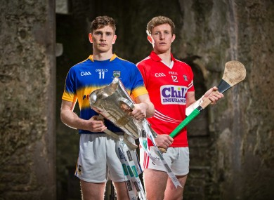 Tipperary's Brendan Maher and Cork's Bill Cooper will be in opposition next Sunday.