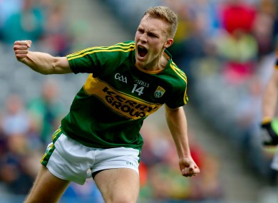 Bryan Sweeney celebrating his goal against Tipperary in last year's All-Ireland minor final.