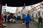 Seven injured after rollercoaster crashes off rails in Scotland