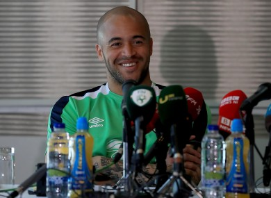 Ireland number one Darren Randolph.