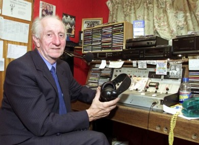 File photo of Eamon Cooke at the Clondalkin headquarters of his pirate radio station