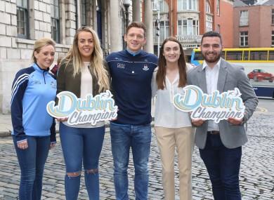 Pictured are Fiona Hodson (Dublin GAA Football Ladies panel member), Dublin Champion Fiona Ni Chathasaigh, (Dublin Sight Seeing), Paul Flynn (Dublin GAA), Daire Enright (Failte Ireland) and Dublin Champion Colm Morris (Trinity College Dublin).