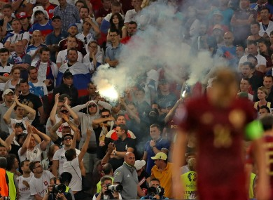 Violent clashes marred last night's game.