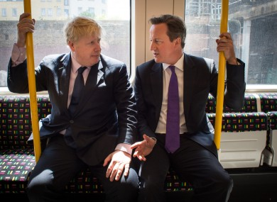 Boris Johnson and David Cameron - 'in happier times' (as these captions always seem to say).
