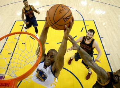 Golden State Warriors in action against Cleveland Cavaliers