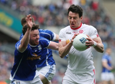 Tyrone's Mattie Donnelly and Cavan's Conor Moynagh will be in opposition on Sunday.