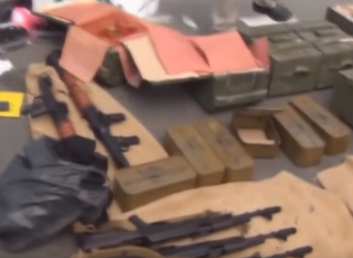 The haul of weapons.